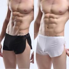 White/Black Sexy Sheer Underwear Boxer Mens See Through Summer Cool Briefs Pants