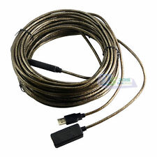 16ft/33ft/49ft/65ft 480Mbp USB2.0 Active Repeater Signal Booster Extended Cable