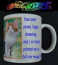 PERSONALISED Custom Printed MUG any photo text design Choose 11oz or 15oz mugs