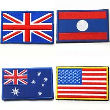 Choice Nation Flag Emblem Iron On Patch Sew Embroidered Trim 2