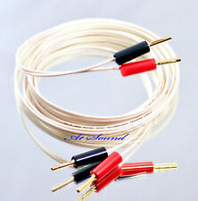QED Micro White Speaker Cable 1.5 Metre Terminated 4x Screw Type Bananas