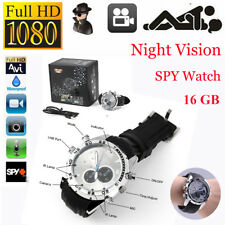 Waterproof 16GB Spy Video Wrist Watch Camera HD 1280*960 Hidden DV DVR Camcorder