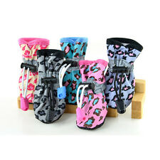Cute Waterproof Pet Dog Cat Protect Rubber Rain Shoes Boot Puppy Booties Leopard