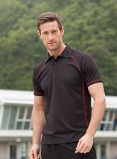 Mens Finden & Hales  Piped Performance Fitness Polo Shirt LV370