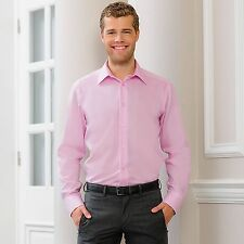 Russell Collection  Long Sleeve Tailored Mens Ultimate Non-Iron Shirt J958M