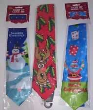 Beautiful Christmas Novelty Musical Tie For Christmas Event or For Gift