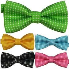Children Kids Toddler Boys Girls Solid Colour Bowtie Pre Tied Bow Necktie