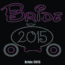 Bride Your Year Of Marriage Rhinestone Organic Made In The USA T-Shirt