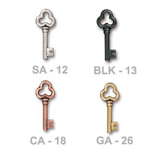 TierraCast Key Charm - 4 color options - plated pewter jewelry steampunk charm