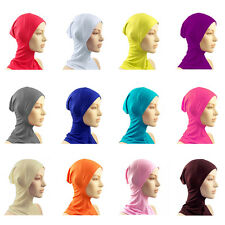 Sweet Color Sunscreen Bone Bonnet Neck Cover Muslim Hijab Caps Under Scarf Hats