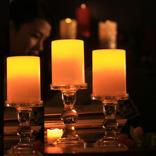 3x NEW Resin Pillar Flickering Flameless LED Candle Light with 4 & 8 Hour Timer