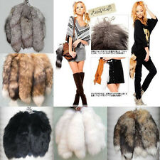 "1Pcs Fashion 15"" Genuine Fox Tail Key Chain Fur Tassel Bag Tag Charm Key Ring"