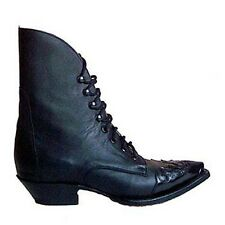 Mezcalero Quincy Boots - Line Dancing Cowboy Style - Black and Brown