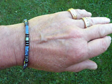 Men's Magnetic Hematite Bracelet Anklet Necklace Sodalite and drum 1 row Healing