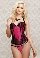 iCollection Lingerie 7284 Full Cup Satin Corset