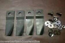 2 Pair Honda 19 & 21 Inch HRU194 & HRU214 High Lift Lawn Mower Blade & Bolt Set