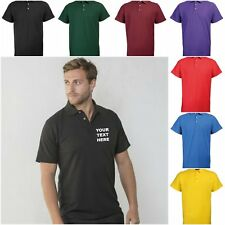 NEW RTY WORKWEAR PERSONALISED CUSTOM PRINTED COMPANY POLO SHIRTS SIZES S-2XL