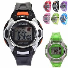Boy Girl Child's Sports Watch LED Digital PU Band Quartz Wrist Watches Stopwatch