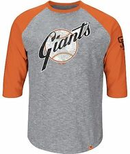 San Francisco Giants MLB Majestic Home Stretch Mens Gray Shirt Big & Tall Sizes
