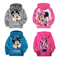 Baby Kids Boys Girls Long Sleeve Tops Minnie Mickey Mouse Hoodies Clothes 2-7Yrs