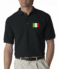 Italy Flag Symbol Italian Pride Embroidered Polo Shirt S-3XL 8 Colors
