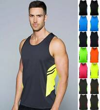 Mens Tasman Singlet 1111 | Neon/Fluro Colours | Sports, Team, Club, Uniform
