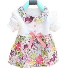 Lovely Kids Girl Cotton Party Dance Tutu Skirt Flower Print One Piece Skirt G92