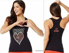 "ZUMBA FITNESS DANCE ""Choose Heart"" RacerBack Top~SOLD OUT/RARE UK Convention M L"