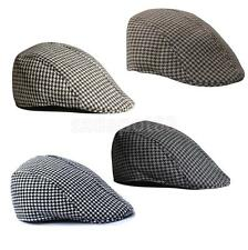 Fashion Adult Cotton Cap Newsboy Peaked Flat Hat Houndstooth Tweed Beret
