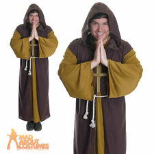 Adult Friar Tuck Costume Monk Robin Hood Mens Book Week Day Fancy Dress Outfit