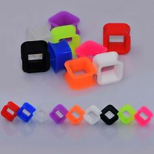 Silicone Tunnel Plugs Square Ear Strecther Piercing Ear Expander 1Pair GoGo-UK