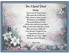 Friendship Personalized Poem Gift For Friend Birthday Christmas