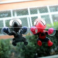 1X Mini Spider Man Suction Cup Doll Car Display Windows Mirror Home Decoration