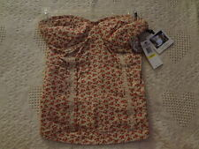 Jessica Simpson Womens Corset Bustiers Flower Print Medium Large NEW WITH TAGS