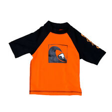 Quiksilver Infant's S/S Main Peak Rashguard Black/Black/Orange