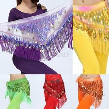 Sexy Lady Belly Dancing Costume Charm Hip Scarf Triangle Tassel Coins Chain HOT