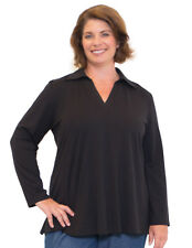 Women's Plus Size Clothing 16-36 Long Sleeve Johnny Collar