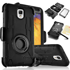 Hybrid Armor Soft Skin Case Cover With Stand Holster Belt Clip For Cell Phone