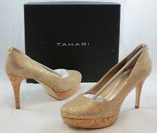 TAHARI Women's Sophia Platform Pump - Natural Canvas - Multi SZ NIB -  MSRP $89
