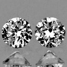 1.6mm MATCHED SI D White Round DIAMOND Pair NATURAL LOOSE GEMSTONES (534)