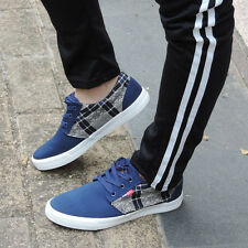 Fashion Mens Canvas Lace Up Sports Sneakers Low Top Running Shoes Trainers New