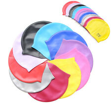 NEW UNISEX ADULT CHILDREN SILICONE SWIM SWIMMING HAT CAP ONE SIZE FIT ALL