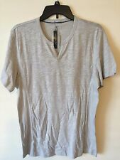NWT INC International Concepts Mens Light Gray Casual T-Shirt