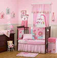 Cocalo Baby Bedding Crib Cot Bumpers Quilt Sheet Set - 7 Piece Bailey Pink Bird