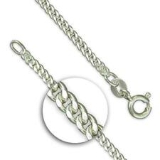 Solid 925 Sterling Silver Medium Diamond-cut Curb Chain Necklaces/Pendants UK