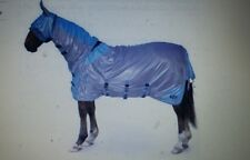 Gallop All In One Pony/Horse Fly Rug - Sand/Blue FREE FLY MASK