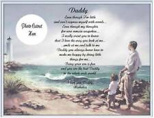 Father Dad Daddy Personalized Poem Gift For Father's Day or Birthday
