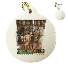 Wicked Hunt Mega Bucks - Christmas Xmas Tree Porcelain Ornaments