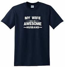 Awesome Husband tshirt and Awesome Wife tshirt Nice Shirts 2 styles Cotton Blend