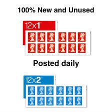 1st & 2nd class stamps booklets new peel & stick. Sent daily via 1st class post